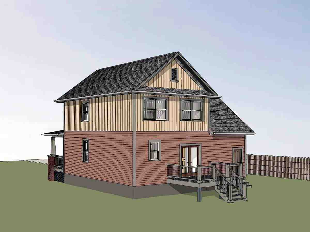Bungalow, Craftsman House Plan 75544 with 3 Beds, 3 Baths, 1 Car Garage Picture 1