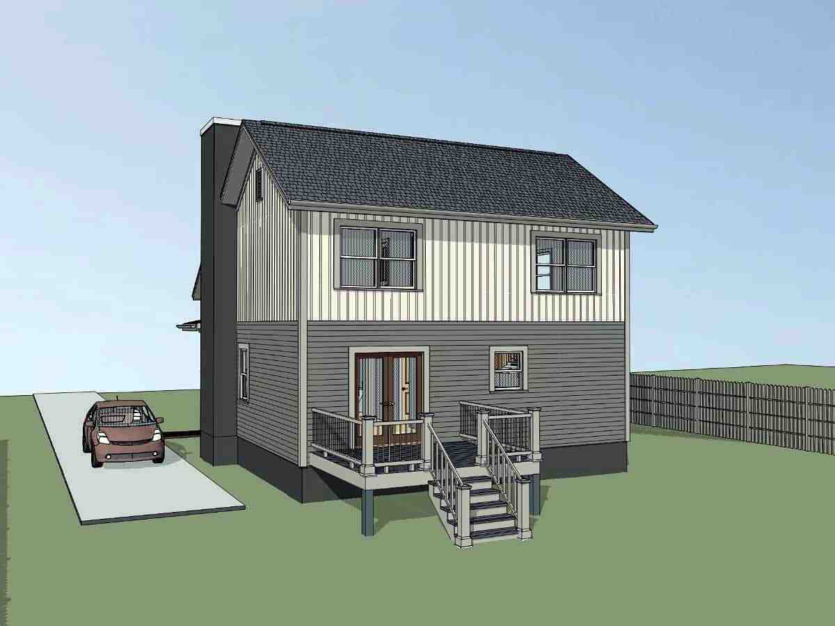 Bungalow, Colonial, Traditional House Plan 75565 with 4 Beds, 2 Baths Picture 1