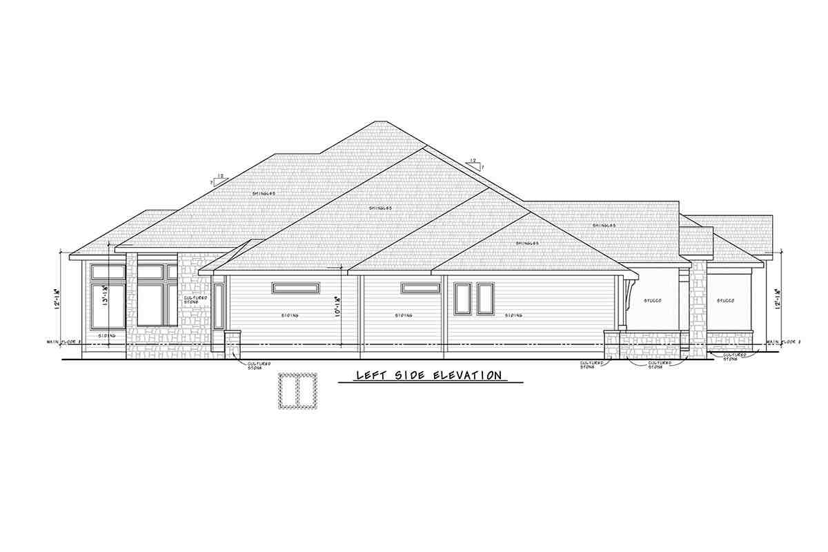 Traditional House Plan 75755 with 2 Beds, 4 Baths, 3 Car Garage Picture 2