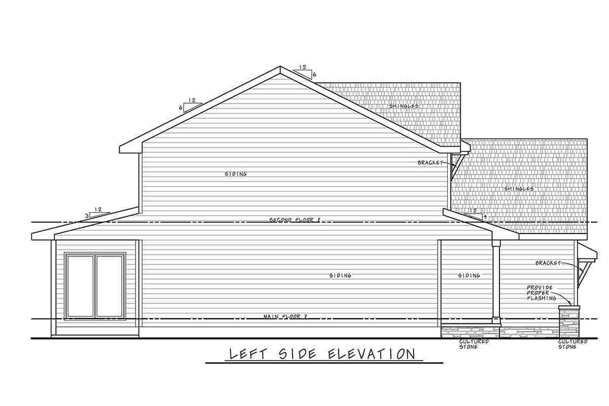 Traditional House Plan 75756 with 3 Beds, 3 Baths, 2 Car Garage Picture 2
