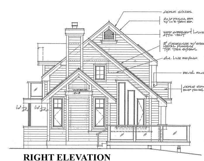 Cabin, Contemporary House Plan 76000 with 3 Beds, 2 Baths Picture 4