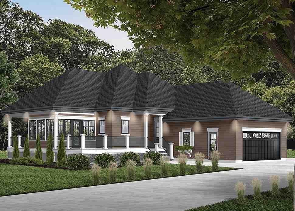 Cottage House Plan 76335 with 2 Beds, 2 Baths, 2 Car Garage Picture 2