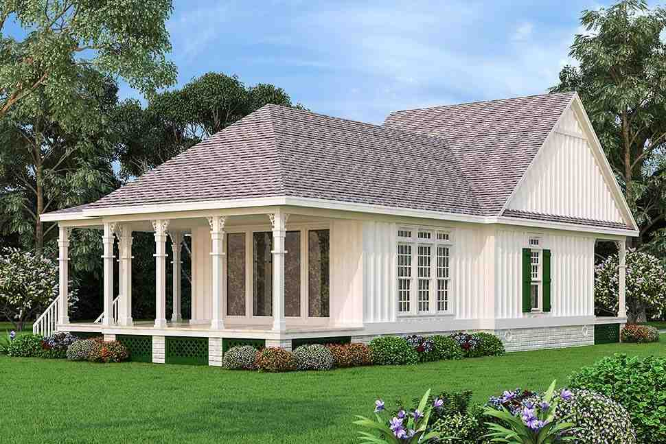 Cottage House Plan 76942 with 1 Beds, 2 Baths Picture 3