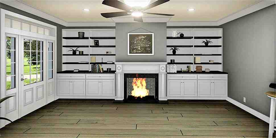 Country, Southern House Plan 77407 with 3 Beds, 2 Baths, 2 Car Garage Picture 3