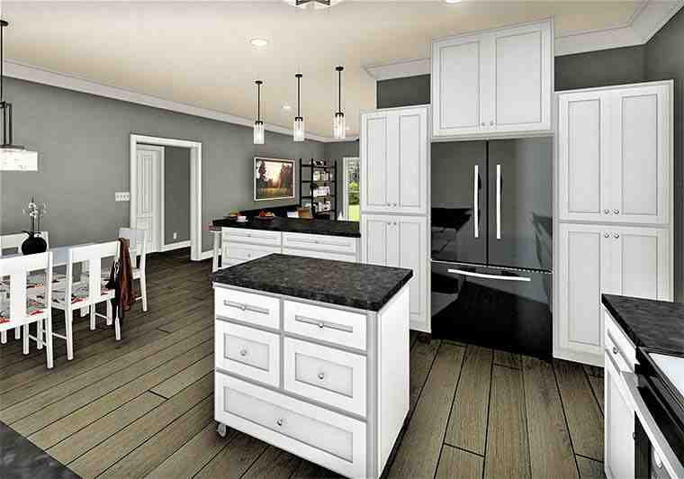 Country, Southern House Plan 77407 with 3 Beds, 2 Baths, 2 Car Garage Picture 5