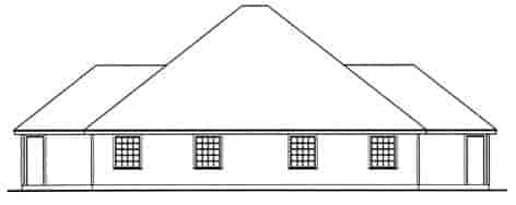 Country Multi-Family Plan 79244 with 4 Beds, 4 Baths, 2 Car Garage Rear Elevation
