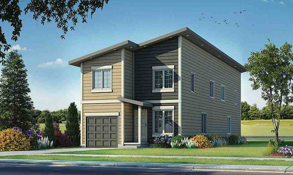 Contemporary, Modern Multi-Family Plan 80461 with 6 Beds, 6 Baths, 2 Car Garage Elevation