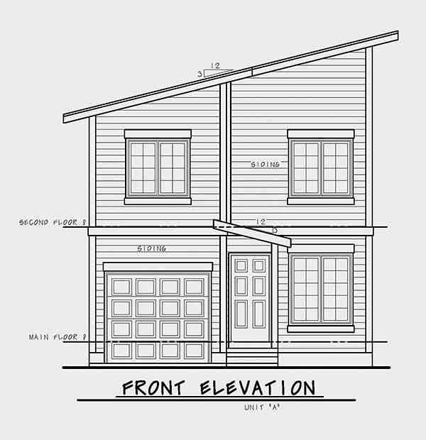 Contemporary, Modern Multi-Family Plan 80461 with 6 Beds, 6 Baths, 2 Car Garage Picture 3