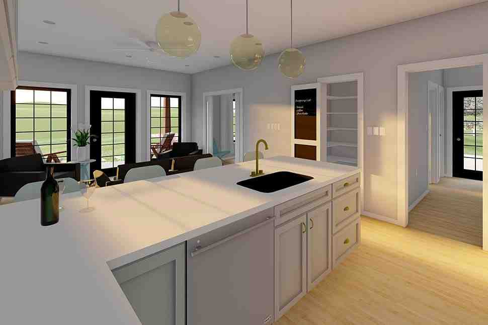 Country, Craftsman, Farmhouse, Ranch House Plan 80523 with 2 Beds, 2 Baths Picture 4