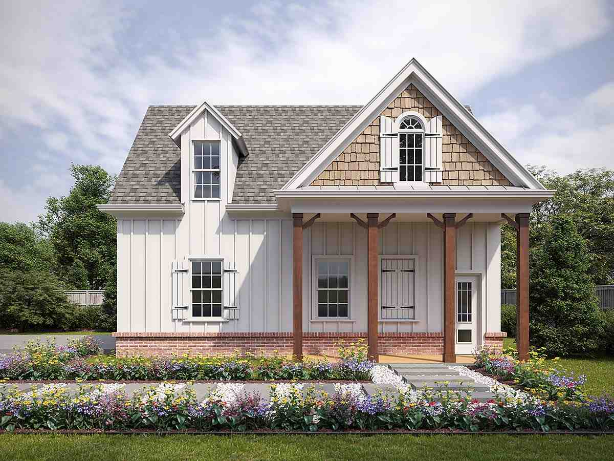 Craftsman, Farmhouse, French Country 2 Car Garage Plan 80738 Elevation