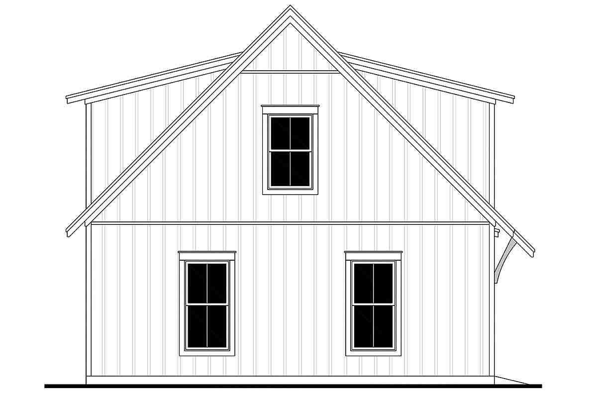 Cottage, Country, Craftsman, Farmhouse 3 Car Garage Apartment Plan 80808 Picture 2