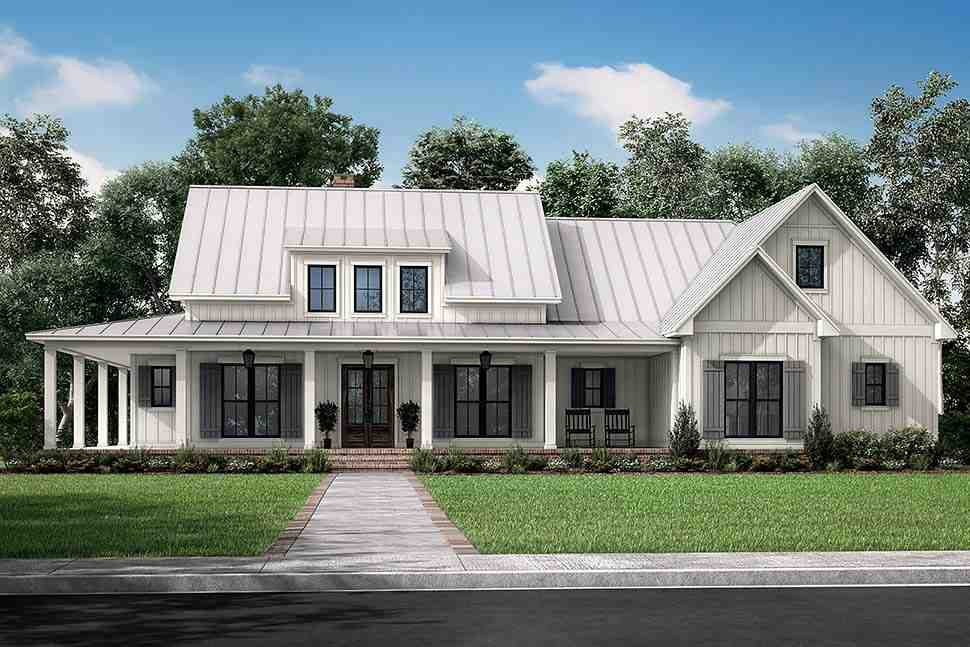 Country, Craftsman, Farmhouse, Traditional House Plan 80833 with 3 Beds, 3 Baths, 2 Car Garage Picture 4