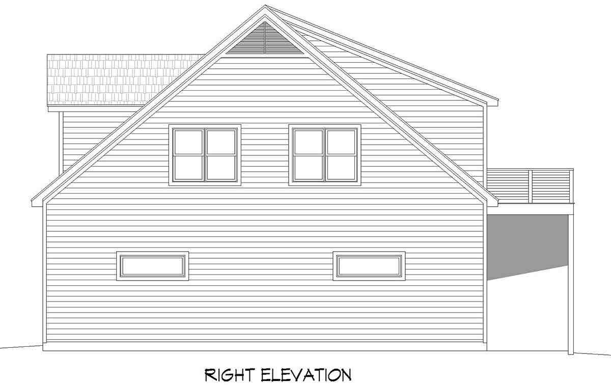 Country, Farmhouse, Ranch, Traditional Garage-Living Plan 80909 with 2 Beds, 3 Baths, 5 Car Garage Picture 1