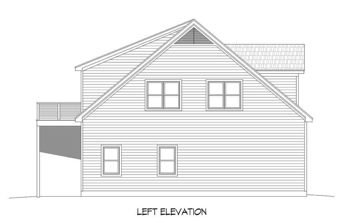 Country, Farmhouse, Ranch, Traditional Garage-Living Plan 80909 with 2 Beds, 3 Baths, 5 Car Garage Picture 2