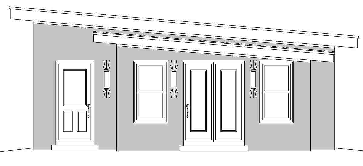 Contemporary 2 Car Garage Plan 80911 Picture 2