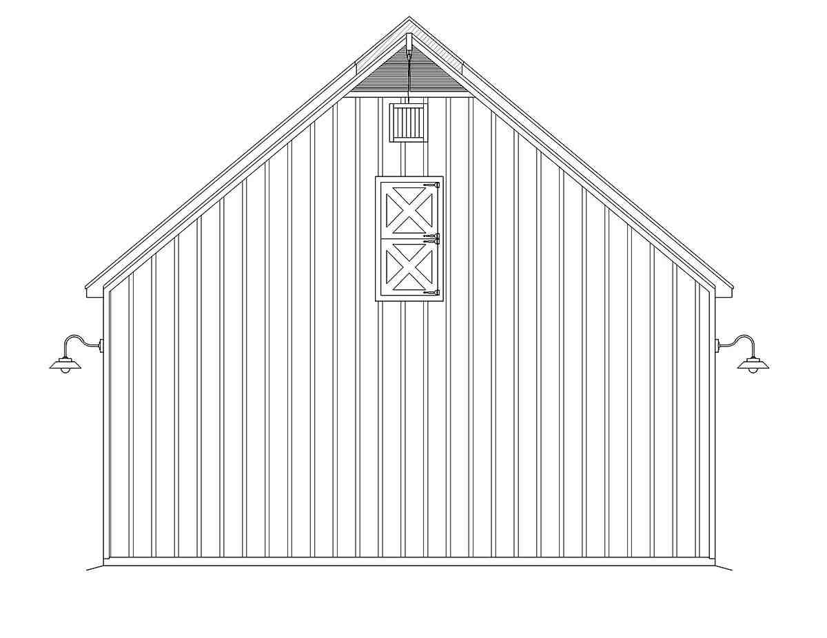 Country, Farmhouse, Ranch, Traditional 3 Car Garage Plan 80914 Picture 2