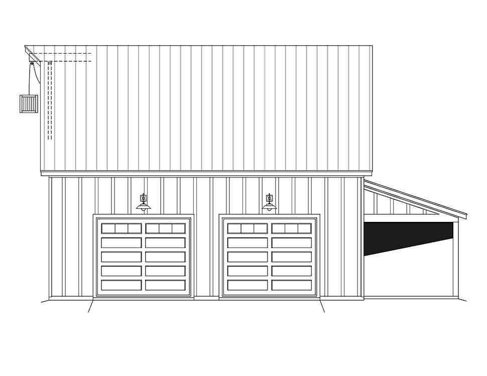 Country, Farmhouse, Ranch, Traditional 3 Car Garage Plan 80914 Picture 3