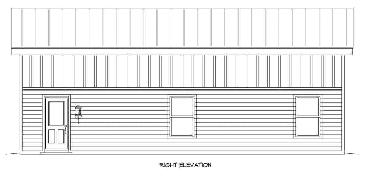 Modern 1 Car Garage Plan 80917, RV Storage Picture 1
