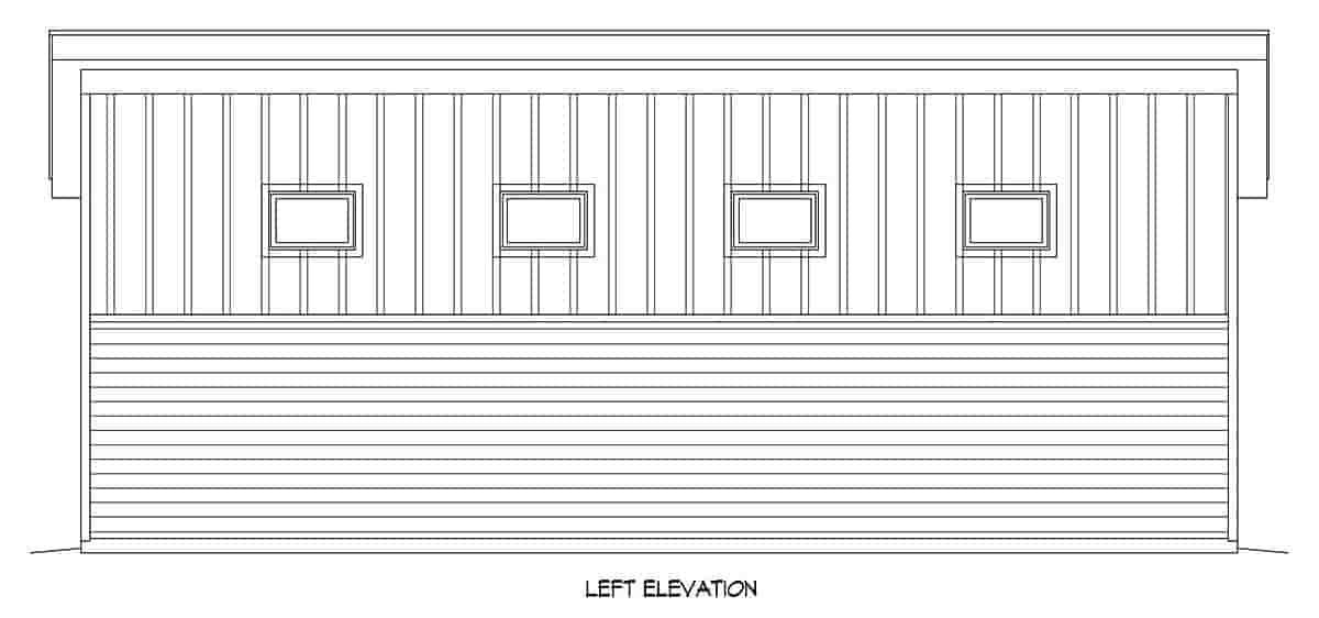 Modern 1 Car Garage Plan 80917, RV Storage Picture 2