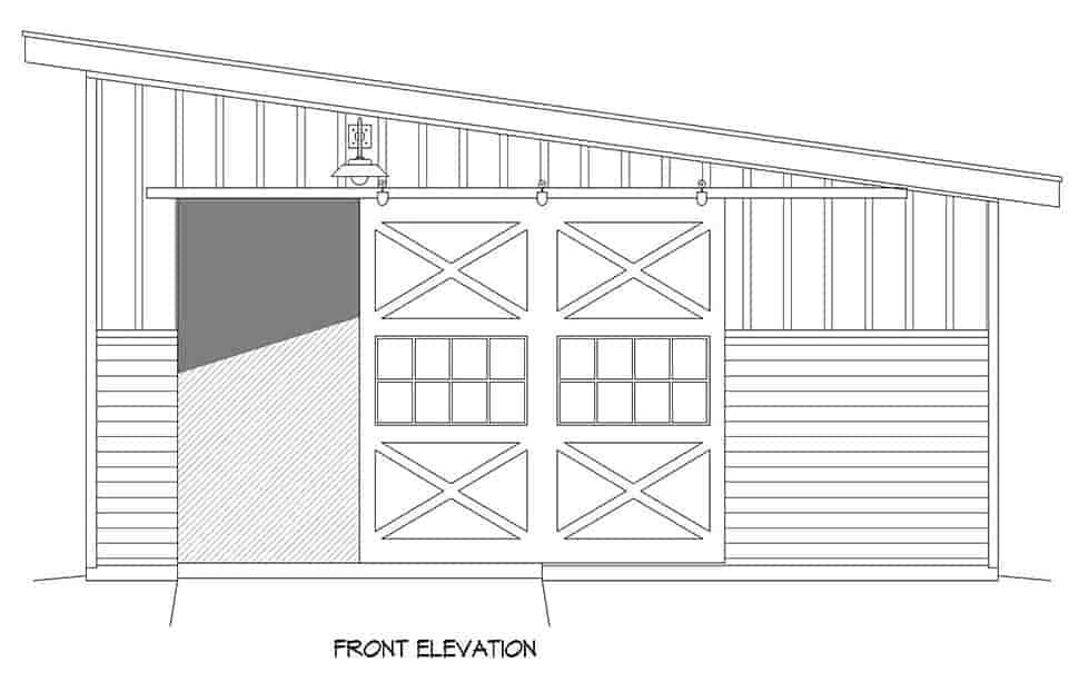 Modern 1 Car Garage Plan 80917, RV Storage Picture 3
