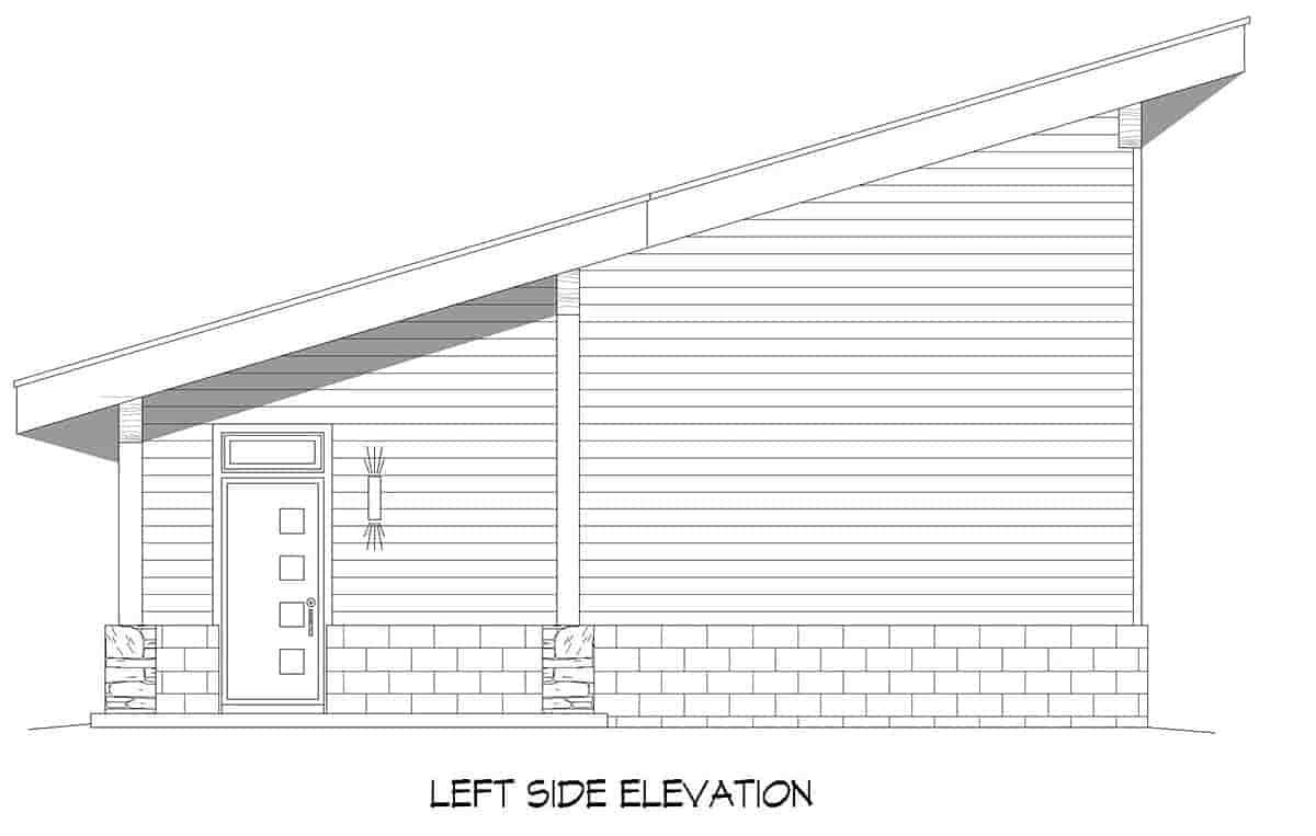 Coastal, Contemporary, Modern 2 Car Garage Plan 80924 Picture 2