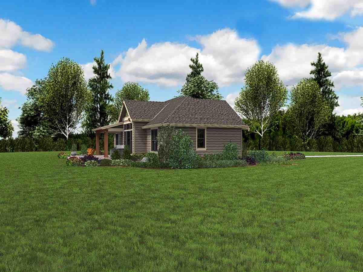 Craftsman, Ranch House Plan 81223 with 3 Beds, 3 Baths, 2 Car Garage Picture 2