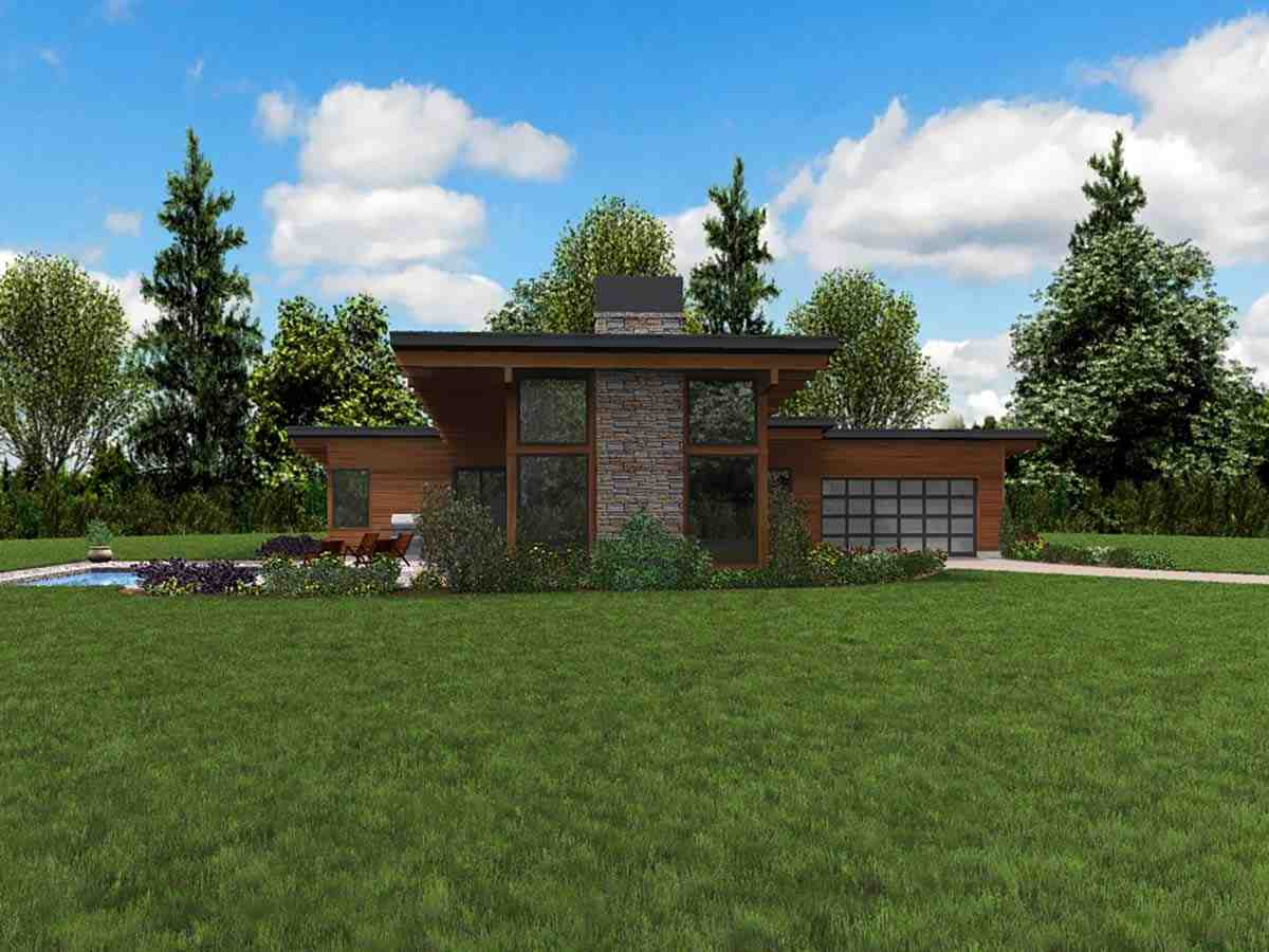 Contemporary House Plan 81224 with 3 Beds, 3 Baths, 2 Car Garage Picture 2