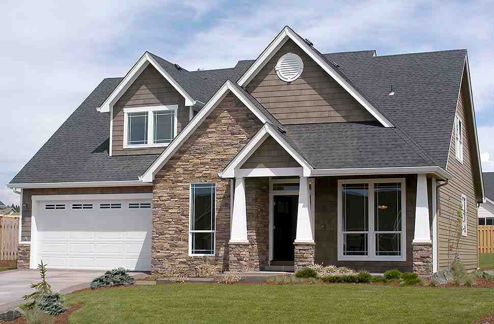 Bungalow, Craftsman House Plan 81232 with 3 Beds, 3 Baths, 2 Car Garage Picture 8