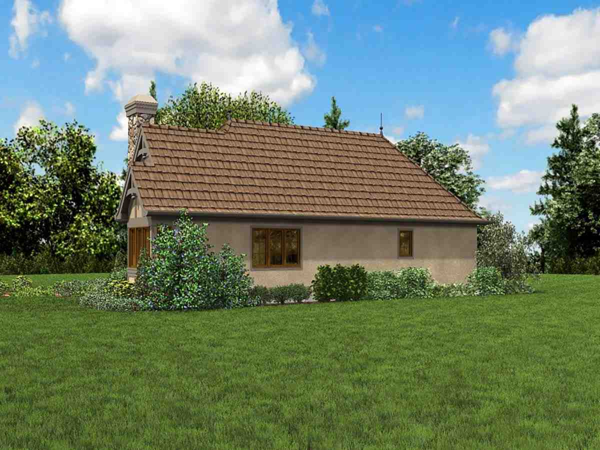 Cottage, French Country, Tudor 0 Car Garage Plan 81234 with 2 Beds, 1 Baths Picture 1