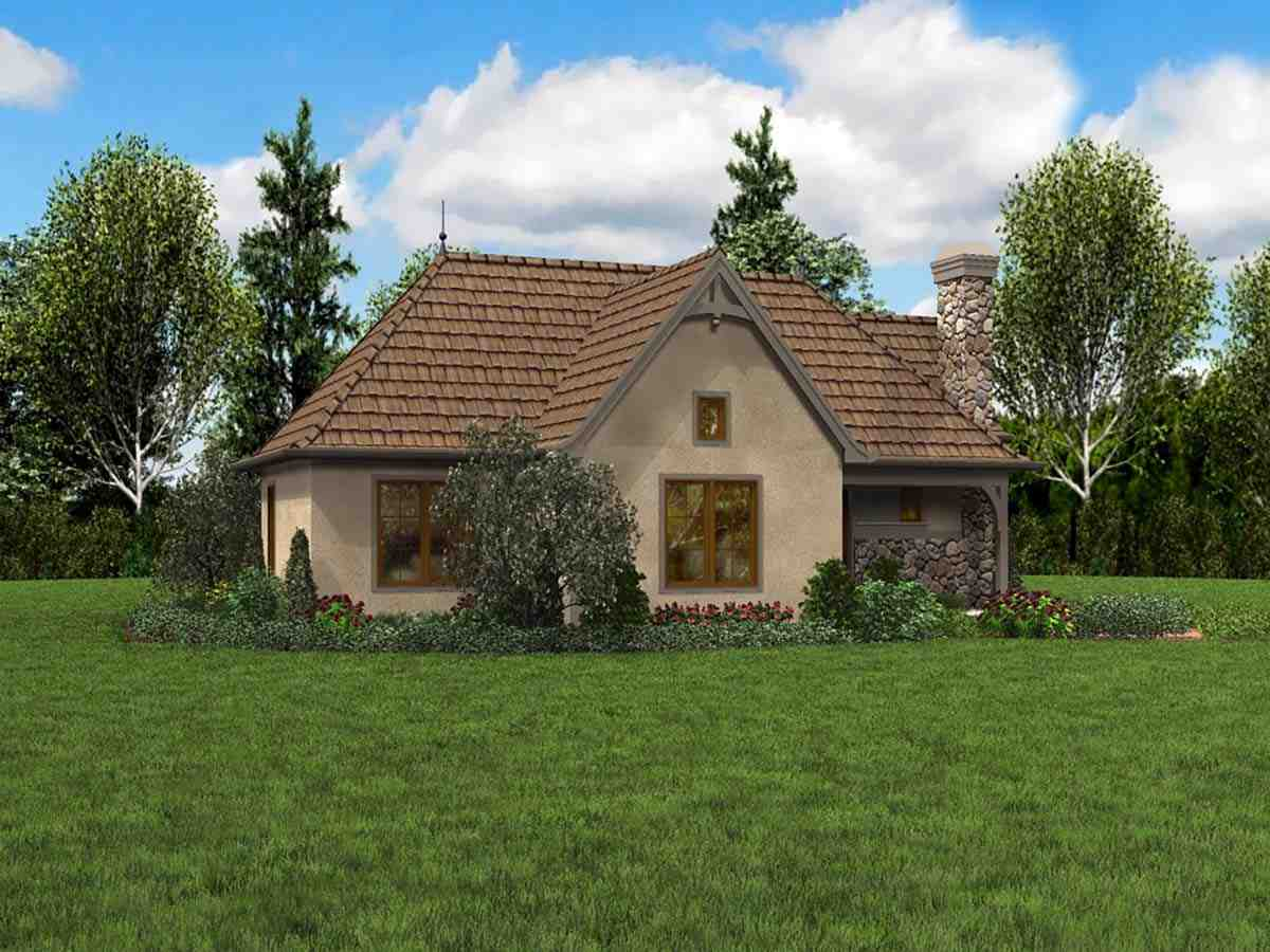 Cottage, French Country, Tudor 0 Car Garage Plan 81234 with 2 Beds, 1 Baths Picture 2