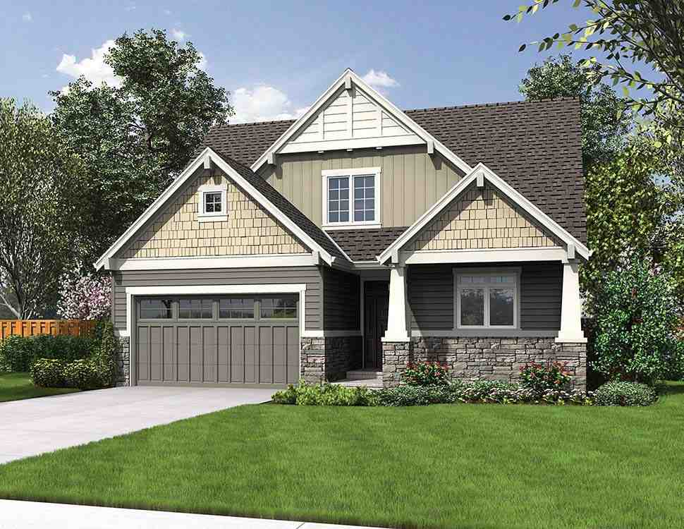 Bungalow, Craftsman House Plan 81248 with 4 Beds, 3 Baths, 2 Car Garage Picture 4