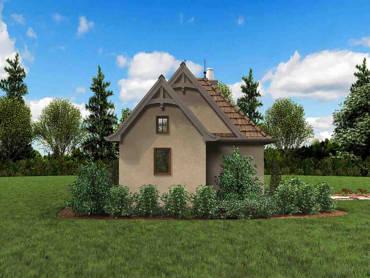 Cabin, Cottage, Narrow Lot, One-Story House Plan 81260 with 1 Beds, 1 Baths Picture 2