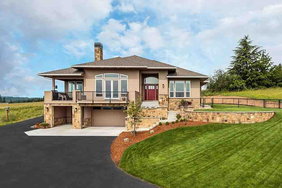 Coastal, Contemporary, Prairie House Plan 81264 with 3 Beds, 3 Baths, 2 Car Garage Picture 3