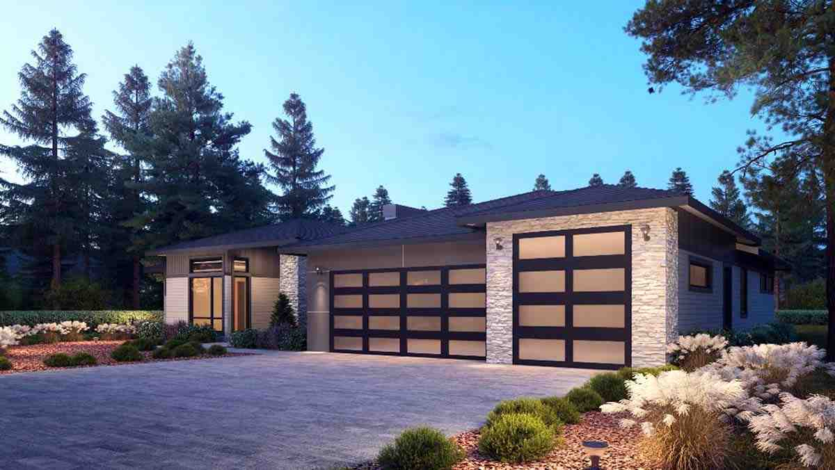 Contemporary, Modern House Plan 81906 with 4 Beds, 4 Baths, 3 Car Garage Picture 1
