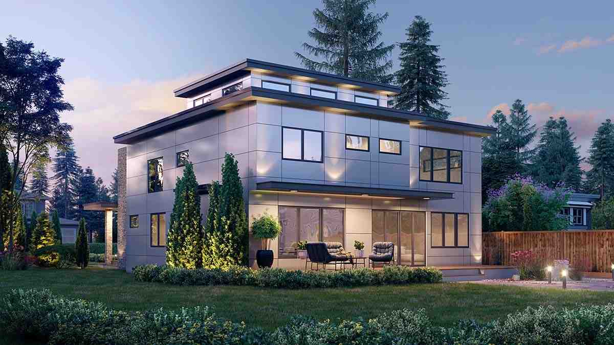Contemporary, Modern House Plan 81908 with 5 Beds, 4 Baths, 2 Car Garage Picture 1