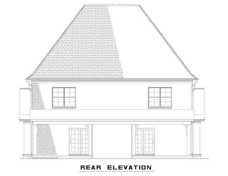 Tudor Multi-Family Plan 82174 with 4 Beds, 6 Baths Rear Elevation