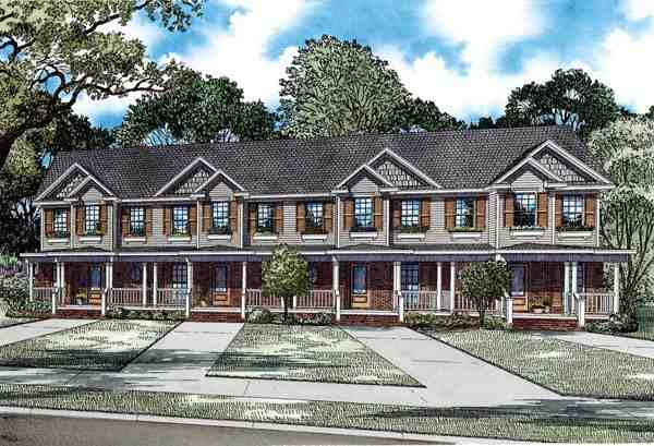Multi-Family Plan 82277 with 8 Beds, 12 Baths Elevation