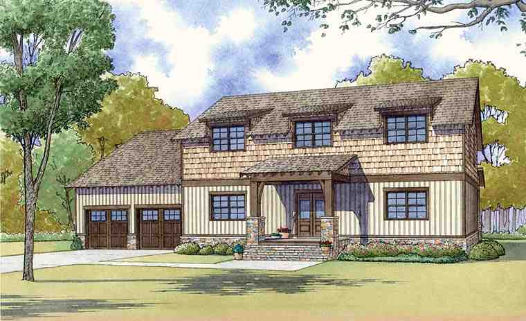 Colonial, Country, Craftsman, Farmhouse House Plan 82454 with 3 Beds, 3 Baths, 2 Car Garage Elevation