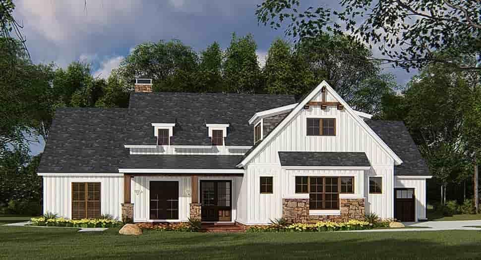 Bungalow, Craftsman, Farmhouse House Plan 82546 with 4 Beds, 3 Baths, 3 Car Garage Picture 1
