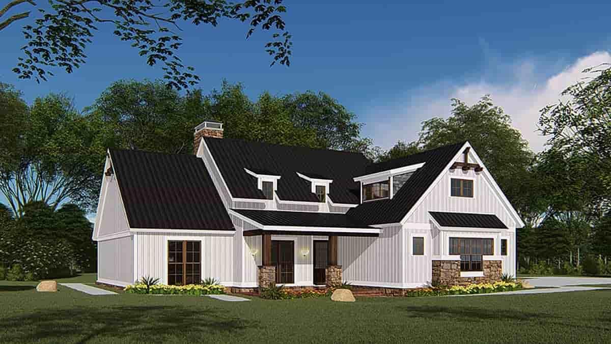 Bungalow, Craftsman, Farmhouse House Plan 82546 with 4 Beds, 3 Baths, 3 Car Garage Picture 2