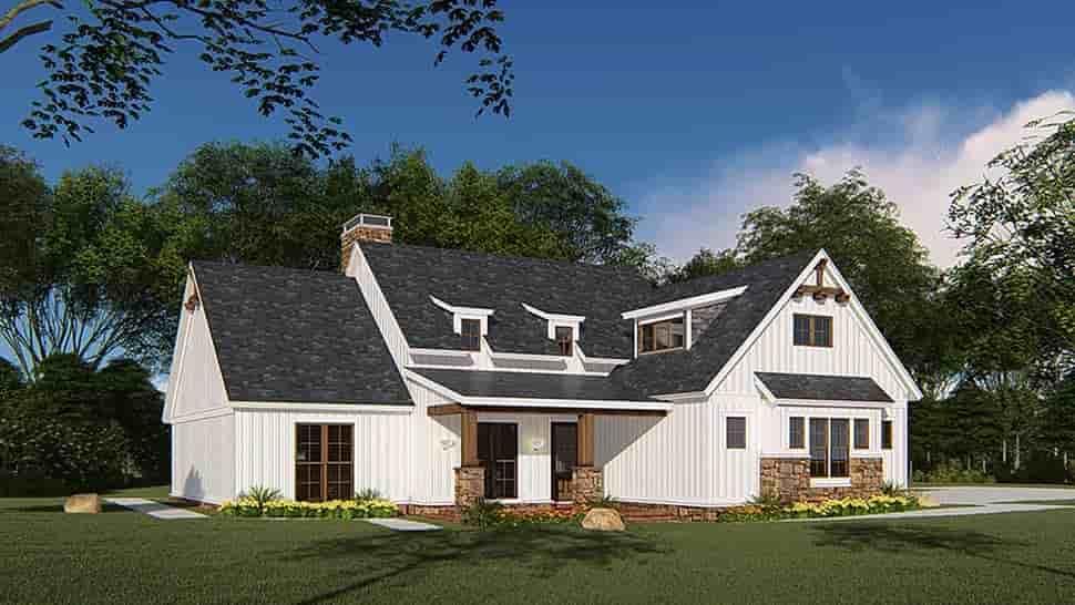 Bungalow, Craftsman, Farmhouse House Plan 82546 with 4 Beds, 3 Baths, 3 Car Garage Picture 3