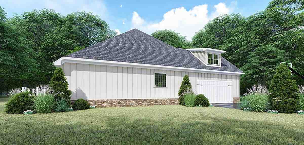 Bungalow, Craftsman, French Country, Traditional House Plan 82547 with 4 Beds, 4 Baths, 2 Car Garage Picture 2
