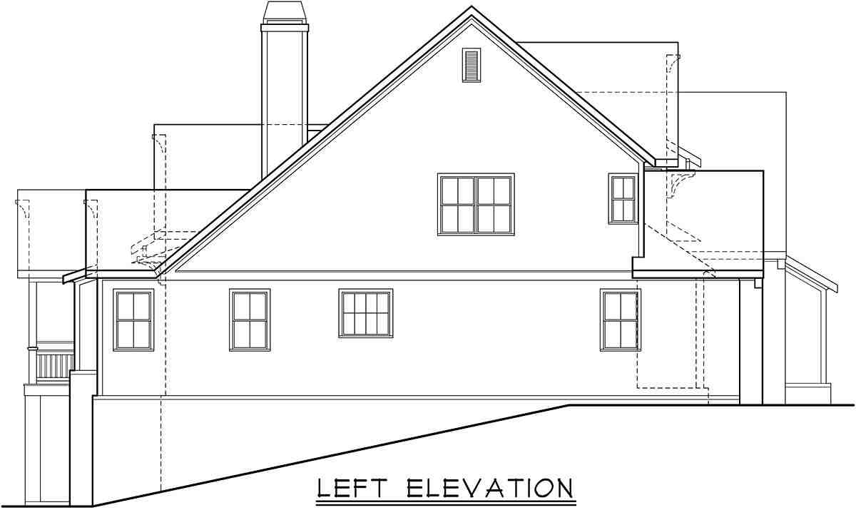 Cottage, Farmhouse, Traditional House Plan 83138 with 4 Beds, 4 Baths, 2 Car Garage Picture 2