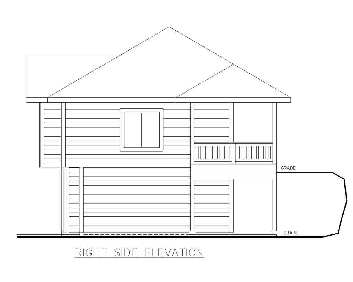 Traditional Garage-Living Plan 85130 with 2 Beds, 2 Baths, 3 Car Garage Picture 1
