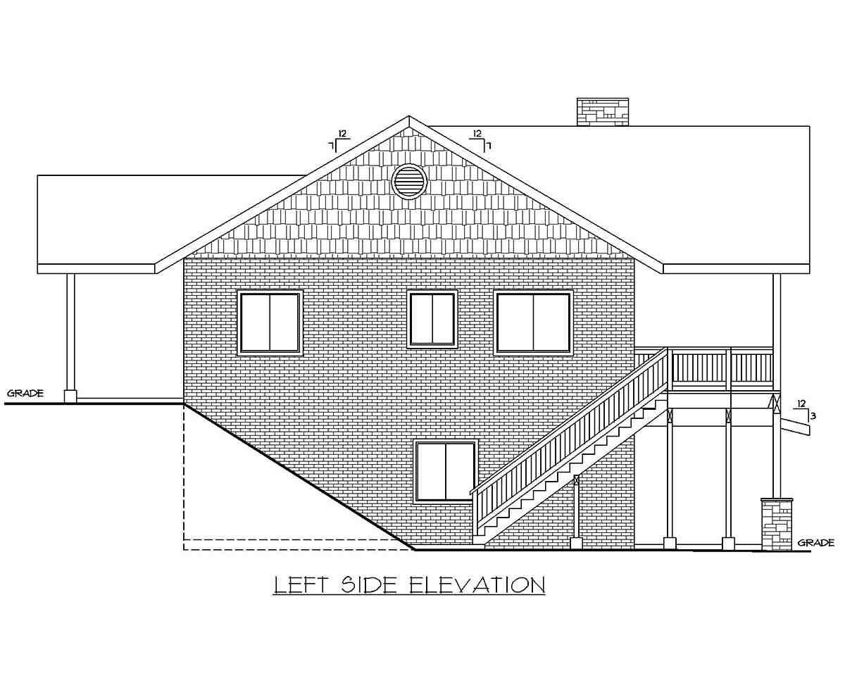 Traditional Garage-Living Plan 85137 with 2 Beds, 3 Baths, 2 Car Garage Picture 2