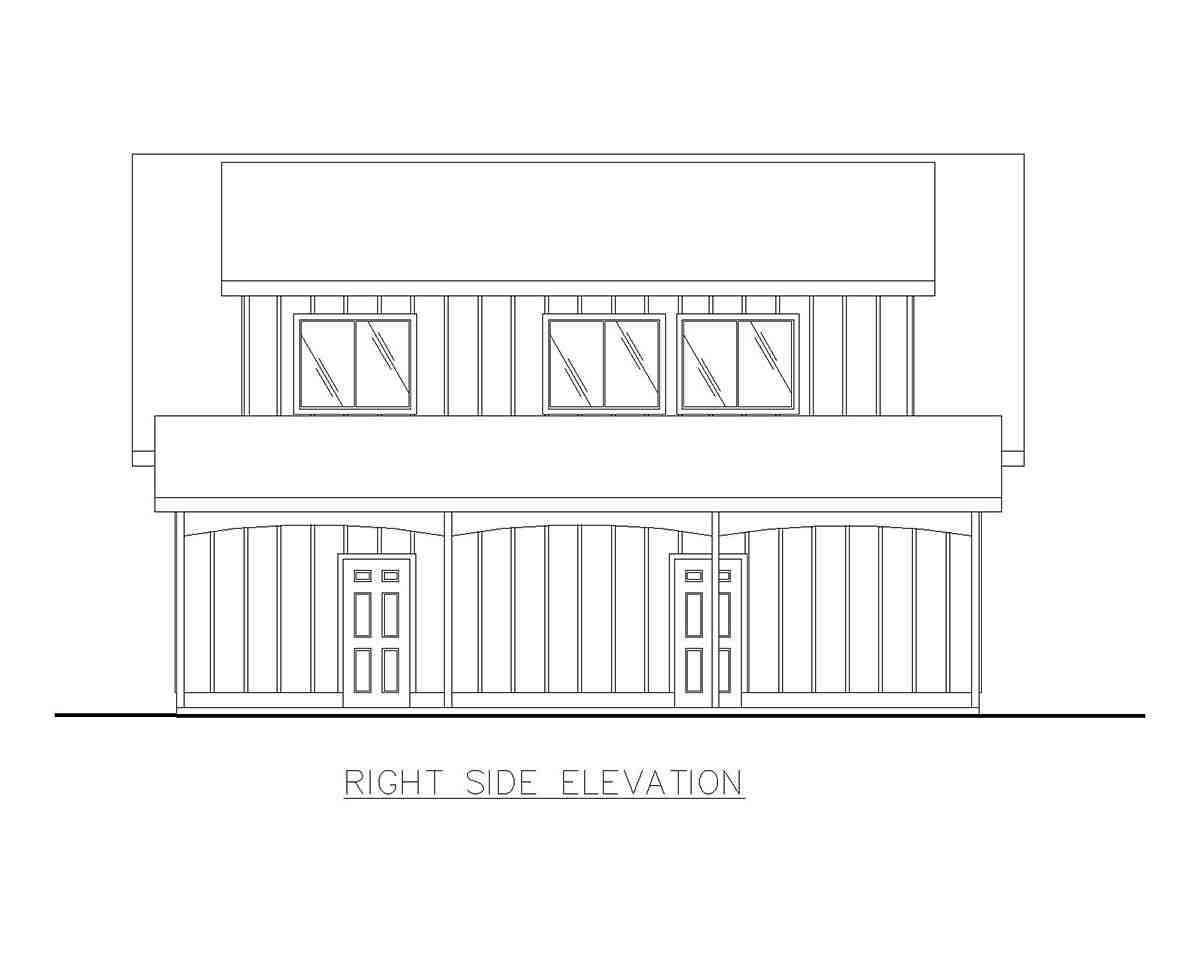 Country, Southern 4 Car Garage Apartment Plan 85207 with 2 Beds, 1 Baths Picture 1
