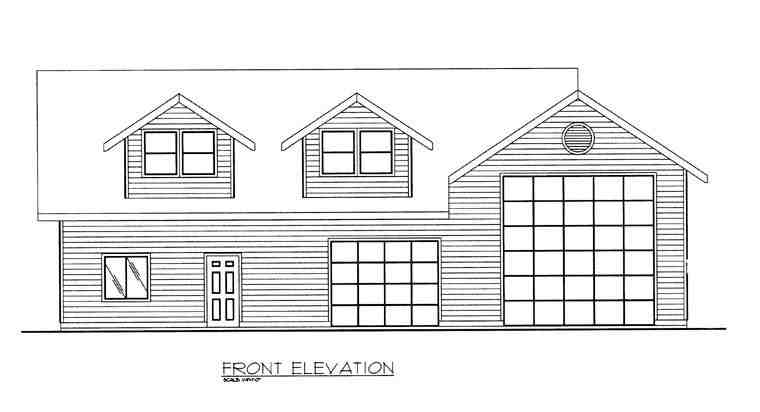 3 Car Garage Plan 85381, RV Storage Picture 1