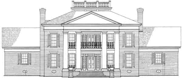Colonial, Plantation, Southern House Plan 86283 with 4 Beds, 5 Baths, 3 Car Garage Picture 1