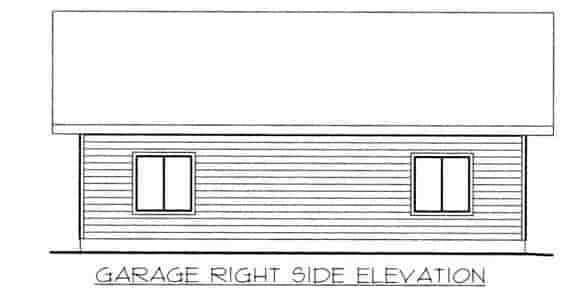 1 Car Garage Plan 86582 Picture 1