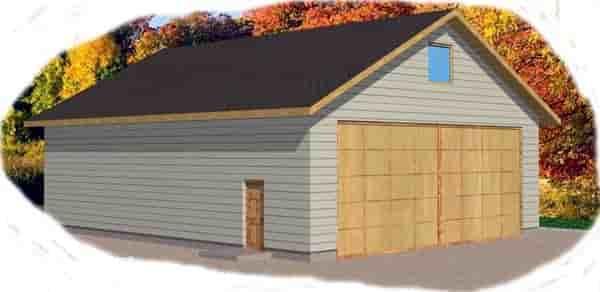 6 Car Garage Plan 86827 Elevation